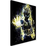 Feeby. Wandbild - 1 Teilig - 40x50 cm, Leinwand Bild Leinwandbilder Bilder Wandbilder Kunstdruck, Barrett Biggers - Anime Gelb