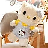Hello Kitty juguete de felpa super lindo gato rizado peluche gatito juguete anime muñecos de peluche chico bebé regalos de cumpleaños 24in / 60cm azul