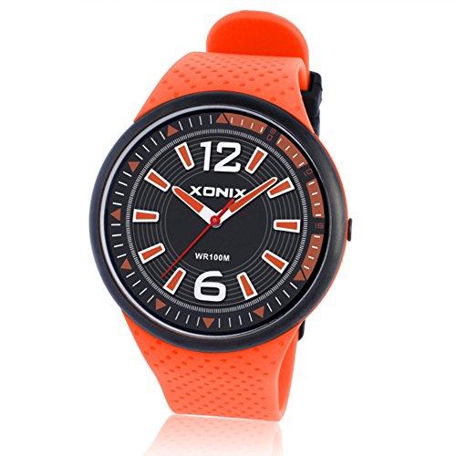 Männer und Frauen Kommerzielle Quarz-Uhren,100m wasserdicht Quarz-Zeiger Scheibe Einfache Dünne Paar Uhr Retro-D