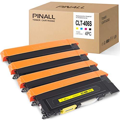 PINALL - Toner compatibile con Samsung CLT-P406C per stampanti Samsung CLP-360 CLP-362 CLP-363 CLP-364 CLP-365 CLP-367 CLP-368 CLX-3303 CLX-3304 CLX-3305 CLX-3307