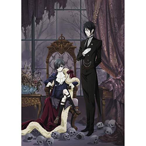 ALTcompluser Anime Black Butler Poster Kuroshitsuji Wanddekoration Wandbild Kleinformat Plakat für Wandgestaltung, Motiv: Ciel Phantomhive und Sebastian·Michaelis