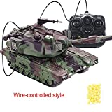 Simulation 1:32 RC Battle Tank Crawler télécommande jouets voiture peut lancer des balles souples enfants...