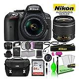Nikon D5300 DSLR Digital Camera with 18-55mm AF-P VR Lens (Black) (1519) USA Model Deluxe Bundle -Includes- Sandisk 64GB SD Card + Nikon Gadget Bag + Filter Kit + Spare Battery + Telephoto Lens + More