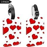 LORVIES - Etiquetas de equipaje con forma de corazón para equipaje (2 unidades)