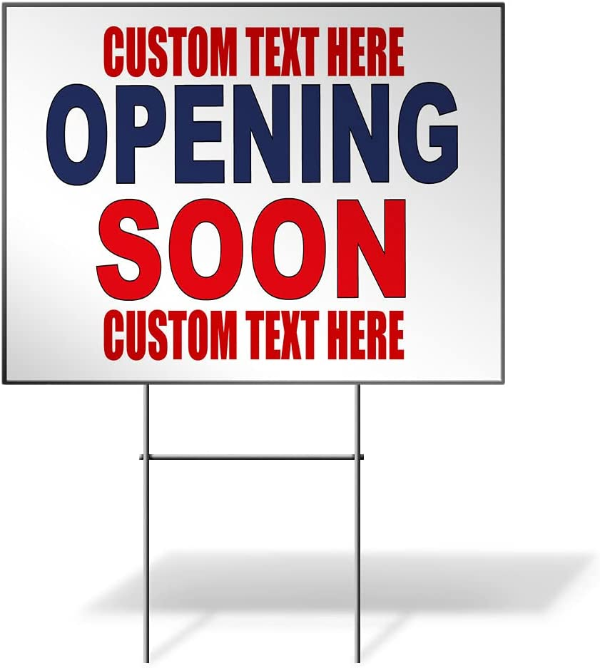 Fastasticdeals High material Custom Weatherproof Yard Sign Price reduction Opening Coming Soon