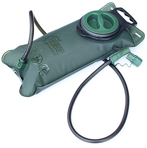 Vessie d'hydratation – 2 l (2 litres) sans BPA avec paroi anti-fuites, facile à nettoyer Large Ouverture, voyages de pêche randonnée Camping Escalade Cyclisme Course à Pied en TPU – portable sac, sac à dos, système d'hydratation