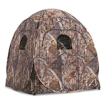 Guide Gear Deluxe Pop-Up Hunting Ground Blind 1-2 Person Tent Hunting Gear Equipment and Accessories 4-Panel Spring Steel