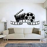 BFMBCH Retro filmkunst film wandaufkleber wandbilder vintage poster vinyl wandaufkleber schlafzimmer haus dekorationen heimkino wandaufkleber A2 103X57 CM