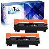 LxTek Compatible para Brother TN2420 TN2410 TN-2420 TN-2410 Cartuchos de Tóner para Brother MFC-L2710DW HL-L2310D HL-L2350DW HL-L2370DN HL-L2375DW DCP-L2530DW MFC-L2710DN L2730DW (2 Negro)