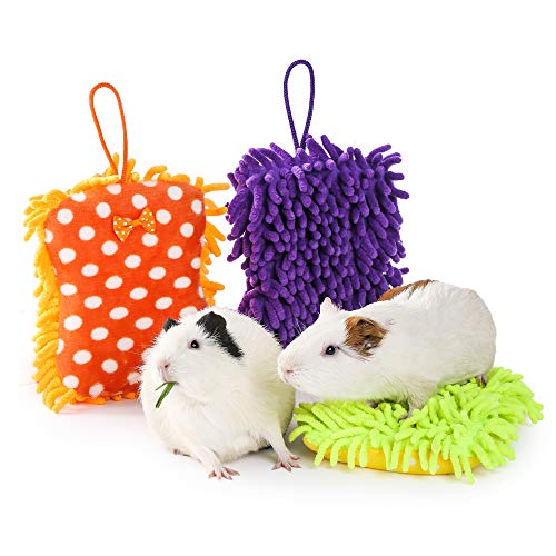 JanYoo 3 Pcs Rabbit Guinea Pig Pillow Accessories Sleep Mat Pad Toy Cushion (Thick,Small)