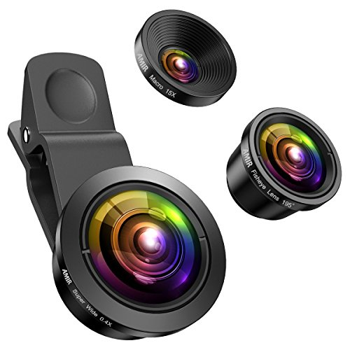 (Upgraded) AMIR for iPhone Camera Lens, 0.4X Super Wide Angle Lens, 195°...