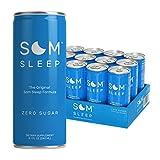 Som Sleep, The Original Sleep Support Formula w/ Melatonin, Magnesium, Vitamin B6, L-Theanine & GABA – Non-GMO, Vegan, Gluten-Free Sleep Aid Drink Supplement – Zero Sugar, 8.1 Fl Oz, 12-Pack