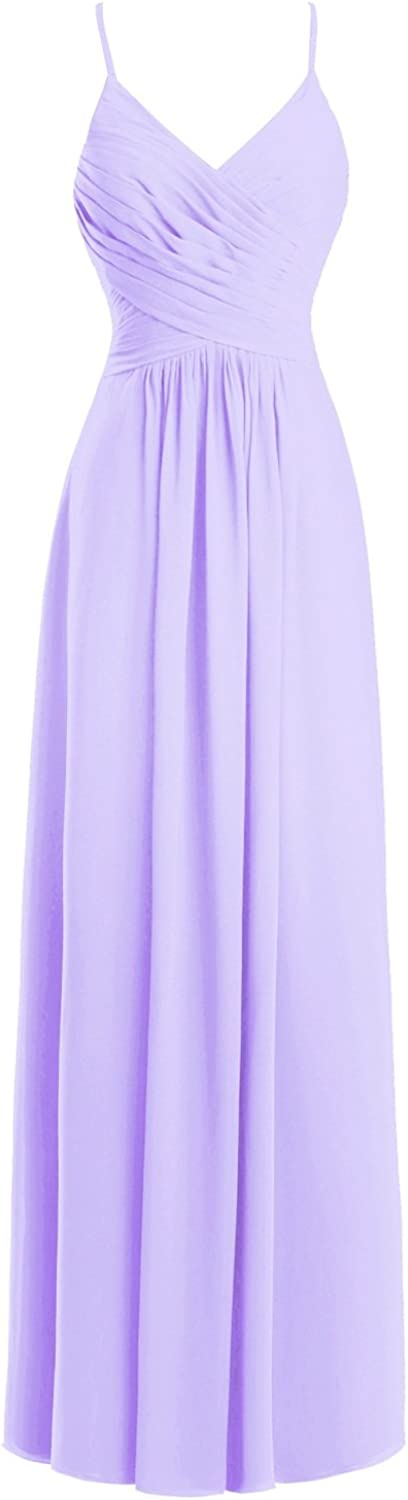 Dasior Women's Formal Long Prom Party Dress with Spaghetti Straps