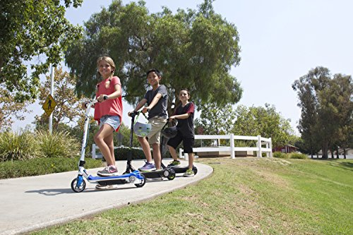 Pulse Performance Products 12V Kids Electric Scooter, Blue/White (161909)