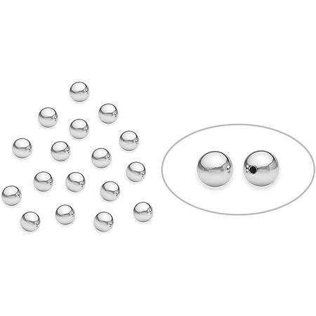 100pcs Véritable 925 ronde en argent sterling boule perles pour la fabrication de bijoux (3 mm) Les résultats par