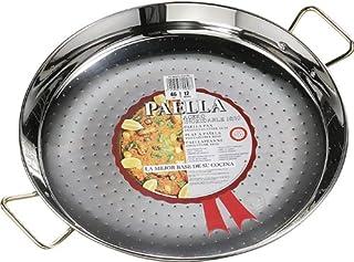 La Ideal - Paellera (acero inoxidable, 4 unidades), color plateado, acero inoxidable, Plateado, 22 cm
