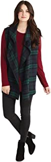 Womens Murphy Poly Wool Plaid Felt Blanket Vest