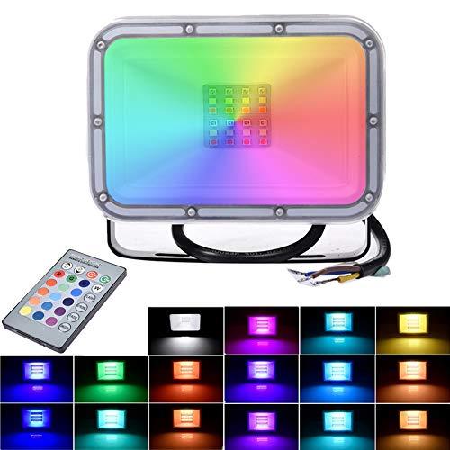 20W RGB Luces de Inundación del LED con Función de Memoria 16...