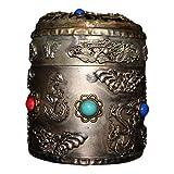 LAOJUNLU Pure Copper Tabacco Box Turchese Gem Intarsiato Tabacco Box imitazione bronzo antico capolavoro collezione di solitari gioielli in stile tradizionale cinese