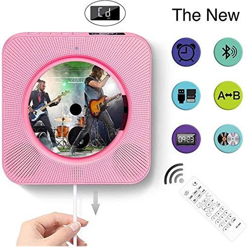 Radio CD-speler wandmontage inbouw-hifi-luidspreker draagbare CD-speler met Bluetooth-speler, persoonlijke CD-speler met afstandsbediening USB MP3-3,5 mm hoofdtelefoonaansluiting AUX input/output-desktophouder