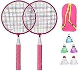 RENFEIYUAN Kinder Badminton Set Ball Badmintonschläger Set Kinder Spiel Spiel Spielzeug mit DREI...