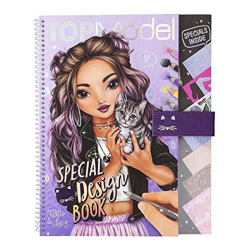 Depesche 11253 Malbuch Special Design Book, TOPModel, mit Schablonen, Musterbogen und viel Zubehör, ca. 29,5 x 23,7 x 1,5 cm