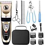 Best Grooming Shears For Dogs - Ceenwes Dog Clippers Low Noise Pet Clippers Rechargeable Review