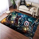 juan Teppich Mode Bett Kopfkissen Rechteckige Teppiche Persönlichkeit Avengers Kinder Jungen Zimmer...