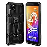 xinyunew Funda para Huawei Y5P 2020 /Honor 9S,Cubierta Carcasa [antigolpes Fundas ] Protección de Cuerpo Completo 361 de Grado Militar con Soporte Clip Trasero Funda - Negro