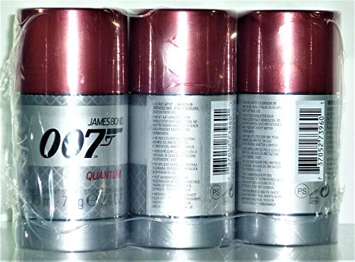 James Bond 007 Quantum Deo Stick 75 ml (3-er Pack)