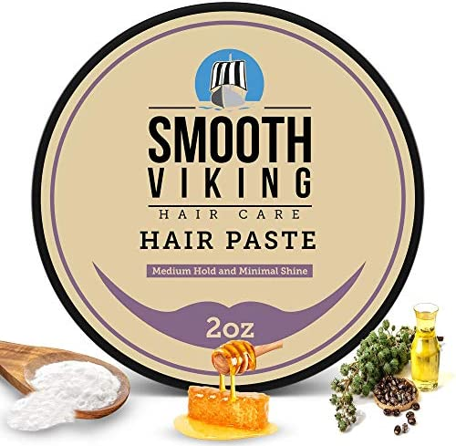Smooth Viking Hair Paste Styling Cream for Men with Minimal Shine Medium Hold Textured Messy product image