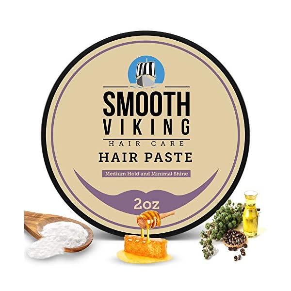Hair Paste for Men - Hair Styling Cream with Minimal Shine & Medium Hold (2 ounces) - Styling Paste for Textured Messy… 1