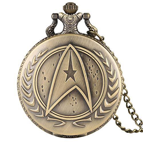 Montre gousset Star Trek en bronze pour homme, montre de...