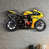 掛け時計 パーソナライズされたオートバイのデザイン木製の壁時計1信頼性の高い品質費用効果的なお土産のカスタムデザイン楽しい (Sheet Size : 10 inch)