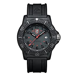casual swiss made quartz luminous watch for firemen - Luminox Land Black OPS Carbon 8800 Men's Grey Face Watch A.8802
