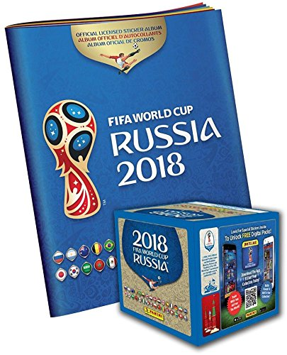 2018 Panini World Cup Soccer Stickers Bundle with (1) Factory Sealed 50 Pack Box & (1) Sticker Album - Unsigned Soccer Cards