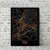 UDIYXC Schwarz und Gold Bern Genf Zürich Schweiz Stadtplan
