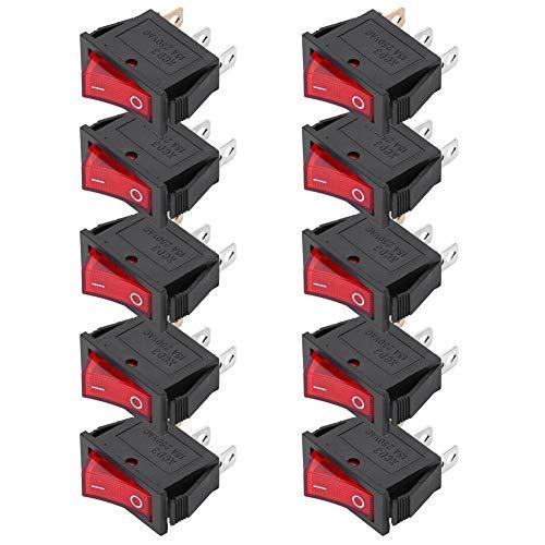 Electrodomésticos KCD3 Interruptor basculante de 3 pines de 10 piezas para trabajo doméstico