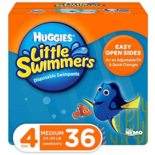 Price comparison product image Huggies Little Swimmers Swim Diapers,  Size 4 Medium,  36 Count (2 Packs of 18)