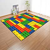 Living Room Geometric Colorful Rugs Splice Pattern Carpet Modern Art Mat for Living Room Bedroom Multi Style for Fun Game Play (Color : C Size : 100X150cm)