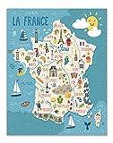 Frankreich Tourismus Karte der Sehenswürdigkeiten