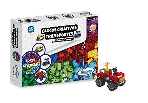 Blocos Criativos Meios de Transporte - 300 Peças