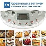 Domaier Machine à Pain, 19 Programmes pour Pain au Levain Naturel, Programmes Sans Gluten, Brioche, Pâtes, Confiture, etc, 3 Taille du pain 1.0/1.5/2.0LB