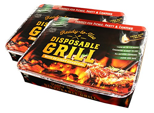 Oppenheimer USA Disposable Charcoal Grill On-The-Go Ready to Use Easy to Light Kosher (2)