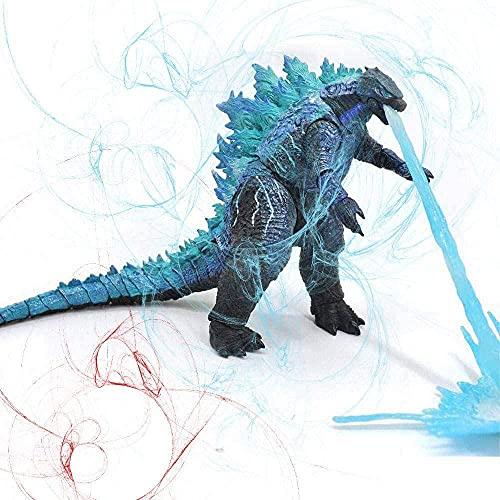 KJSDHAE 2021 King Kong Vs Godzilla Toys Skull Island, Godzilla with Heat Wave, Godzilla vs Kong Toy, Gifts for Movie Fans Kid Adult Atomic Blast Godzilla-Blue