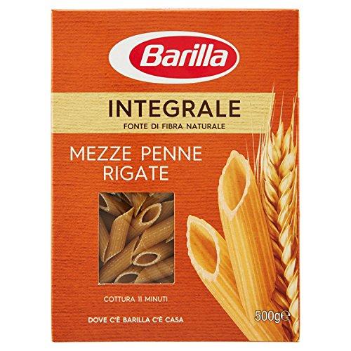 Barilla Pasta Integrale Mezze Penne Rigate Semola Integrale di Grano Duro, 500 gr