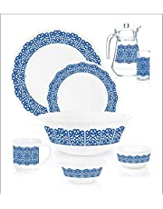 ENDURA DINNER SET EASTERN PALACE, Arcopal, BLUE, 40 PCS FULLY TEMPERED - K6678