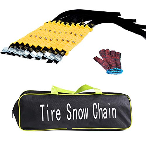 Set of 10 Car Snow Chains, Universal Fit Anti-slip Car...