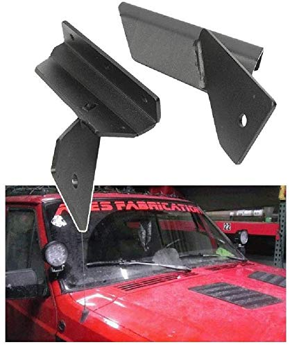 IRONWALLS LED Light Bar Bracket A Pillar Lower Windshield Mount for 4'' Work Light Bar for Jeep Cherokee XJ 4WD 2WD 1984-2001 Comanche MJ 4WD 2WD 1986-1992