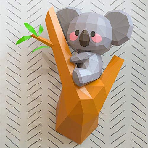 WXMYOZR 3D Animal Origami Papercraft DIY Modelo 3D De Papel Geométrica Trofeo del Arte DIY del Edificio 3D del Papel del Rompecabezas De Montaje En Pared del Edificio De Animales